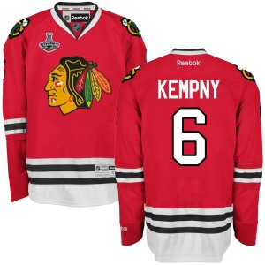 Men's Chicago Blackhawks Michal Kempny Reebok Authentic 2015 Stanley Cup Champions Home Jersey - Red