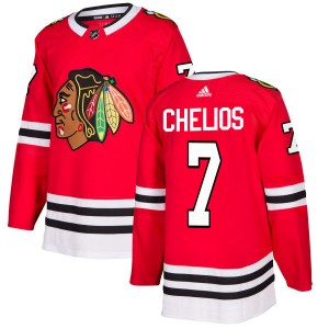 Men's Chicago Blackhawks Chris Chelios Adidas Authentic Jersey - Red