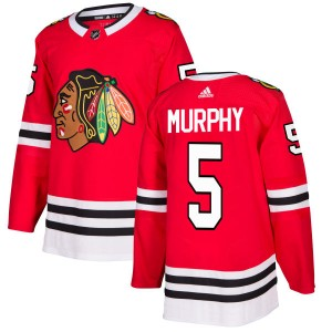 Men's Chicago Blackhawks Connor Murphy Adidas Authentic Jersey - Red