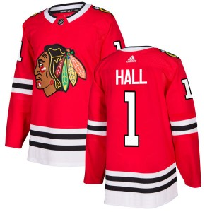 Men's Chicago Blackhawks Glenn Hall Adidas Authentic Jersey - Red