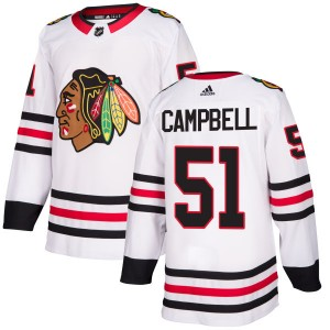 Men's Chicago Blackhawks Brian Campbell Adidas Authentic Jersey - White