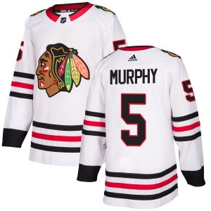 Men's Chicago Blackhawks Connor Murphy Adidas Authentic Jersey - White