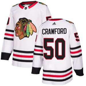 Men's Chicago Blackhawks Corey Crawford Adidas Authentic Jersey - White