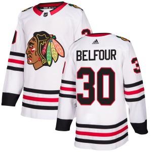 Men's Chicago Blackhawks ED Belfour Adidas Authentic Jersey - White