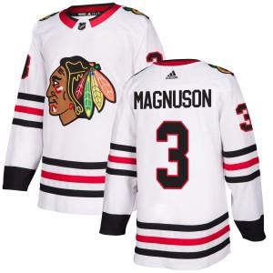 Men's Chicago Blackhawks Keith Magnuson Adidas Authentic Jersey - White