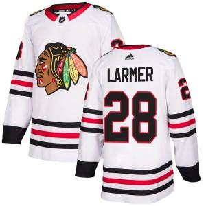 Men's Chicago Blackhawks Steve Larmer Adidas Authentic Jersey - White