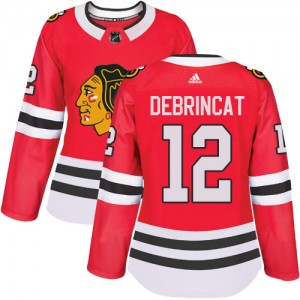 Women's Chicago Blackhawks Alex DeBrincat Adidas Authentic Home Jersey - Red