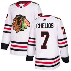 Women's Chicago Blackhawks Chris Chelios Adidas Authentic Away Jersey - White