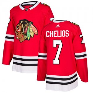 Youth Chicago Blackhawks Chris Chelios Adidas Authentic Home Jersey - Red