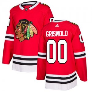 Youth Chicago Blackhawks Clark Griswold Adidas Authentic Home Jersey - Red