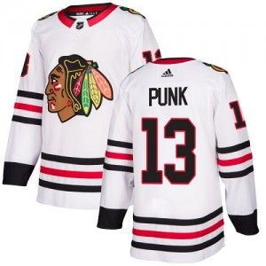 Women's Chicago Blackhawks CM Punk Adidas Authentic Away Jersey - White