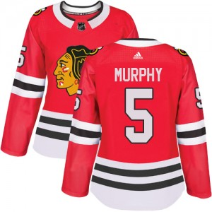 Women's Chicago Blackhawks Connor Murphy Adidas Authentic Home Jersey - Red