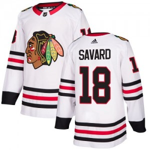 Youth Chicago Blackhawks Denis Savard Adidas Authentic Away Jersey - White