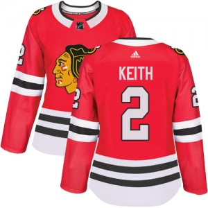 Women's Chicago Blackhawks Duncan Keith Adidas Authentic Home Jersey - Red