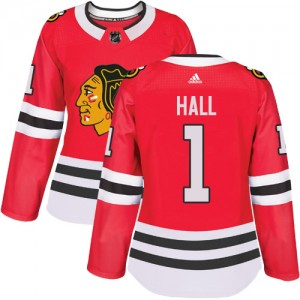Women's Chicago Blackhawks Glenn Hall Adidas Authentic Home Jersey - Red