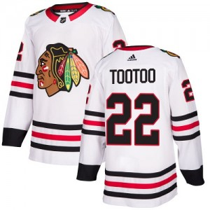 Youth Chicago Blackhawks Jordin Tootoo Adidas Authentic Away Jersey - White