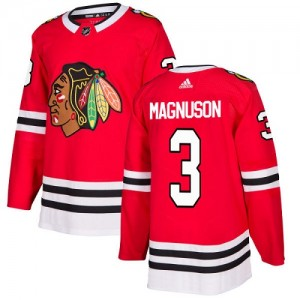Youth Chicago Blackhawks Keith Magnuson Adidas Authentic Home Jersey - Red