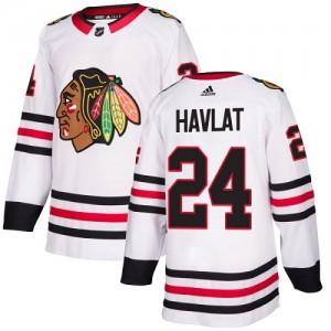 Youth Chicago Blackhawks Martin Havlat Adidas Authentic Away Jersey - White