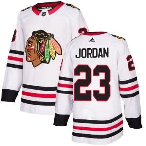 Youth Chicago Blackhawks Michael Jordan Adidas Authentic Away Jersey - White