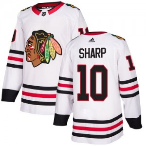 Youth Chicago Blackhawks Patrick Sharp Adidas Authentic Away Jersey - White