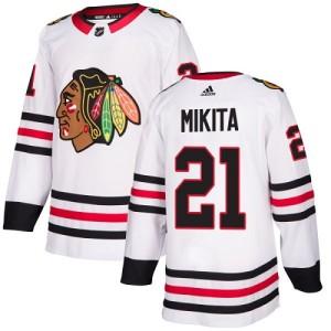 Youth Chicago Blackhawks Stan Mikita Adidas Authentic Away Jersey - White