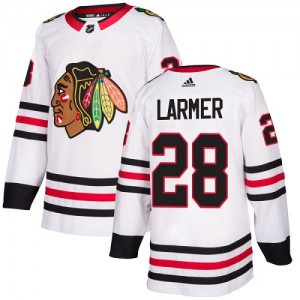 Women's Chicago Blackhawks Steve Larmer Adidas Authentic Away Jersey - White