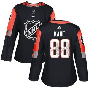 Women's Chicago Blackhawks Patrick Kane Adidas Authentic 2018 All-Star Central Division Jersey - Black